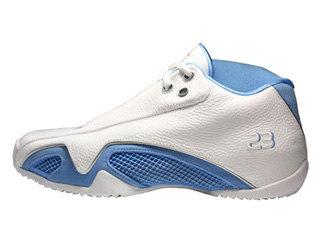 AIR JORDAN 21 LOW white/university blue-metallic silver