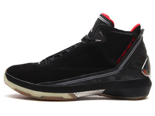 AIR JORDAN 22 black/varsity red-metallic silver