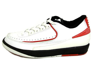 NIKE AIR JORDAN 2 LO 95 RETRO 1995 white/red/black