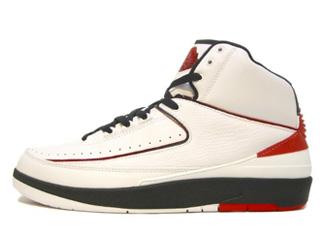 AIR JORDAN 2 RETRO white/varsity red/black