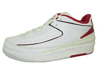 AIR JORDAN 2 RETRO LO white/varsity red