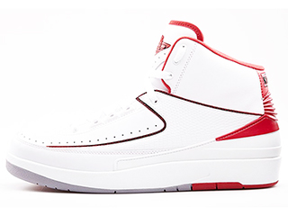 AIR JORDAN 2 RETRO white/black-vrsty red-cmnt gry