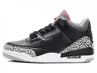 AIR JORDAN 3 RETRO black/cement grey