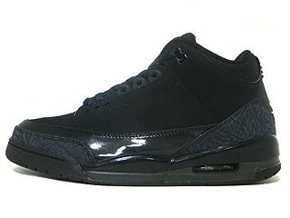 AIR JORDAN 3 RETRO black cat black/dark charcoal-black