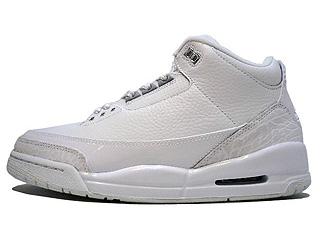 AIR JORDAN 3 RETRO pure $ white/metallic silver