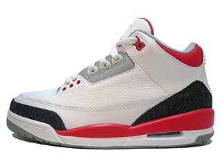 AIR JORDAN 3 RETRO white/fire red-cement grey