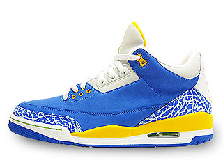 AIR JORDAN 3 RETRO LS do the right thing brisk blue/pro gold-radiant green