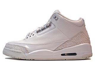 AIR JORDAN 3 RETRO 25th anniversary white/metallic silver