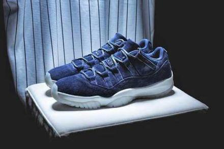 "NIKE AIR JORDAN 11 LOW ""RE2PECT"" BINARY BLUE/SAIL-BINARY BLUE"
