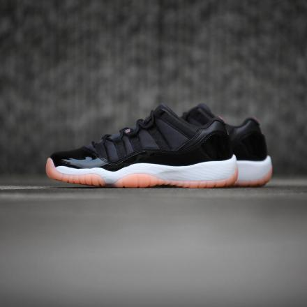 NIKE AIR JORDAN 11 RETRO LOW GS BLACK/BLEACHED CORAL-WHITE