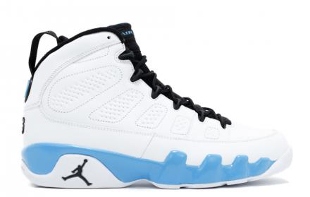 NIKE AIR JORDAN 9 RETRO WHITE/MIDNIGHT NAVY-UNIVERSITY BLUE