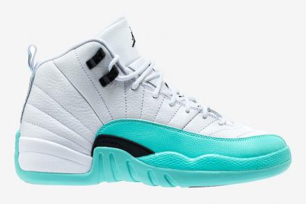 NIKE AIR JORDAN 12 RETRO GG WHITE/LIGHT AQUA-BLACK