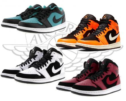 NIKE AIR JORDAN 1 LOW & MID 4COLORS