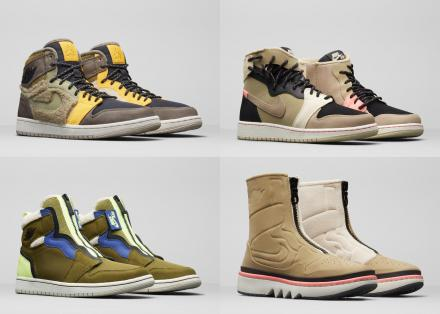 "WOMEN'S AIR JORDAN 1 ""UTILITY"" PACK 4TYPES"